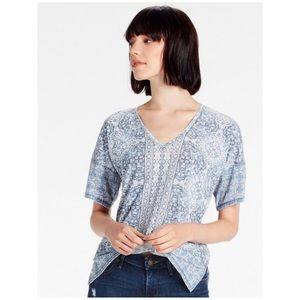 Lucky Brand • baroque mosaic tee top